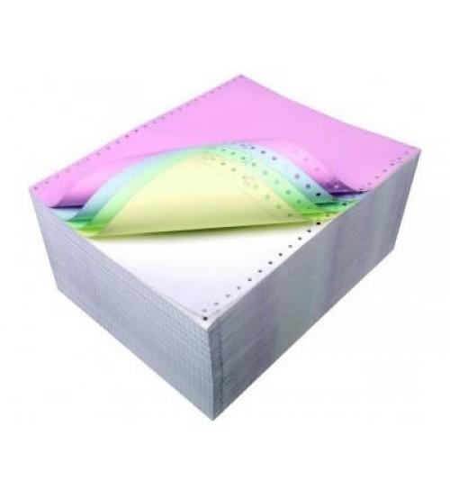 Бумага перфорированная в стопе самокопирующаяся слойная